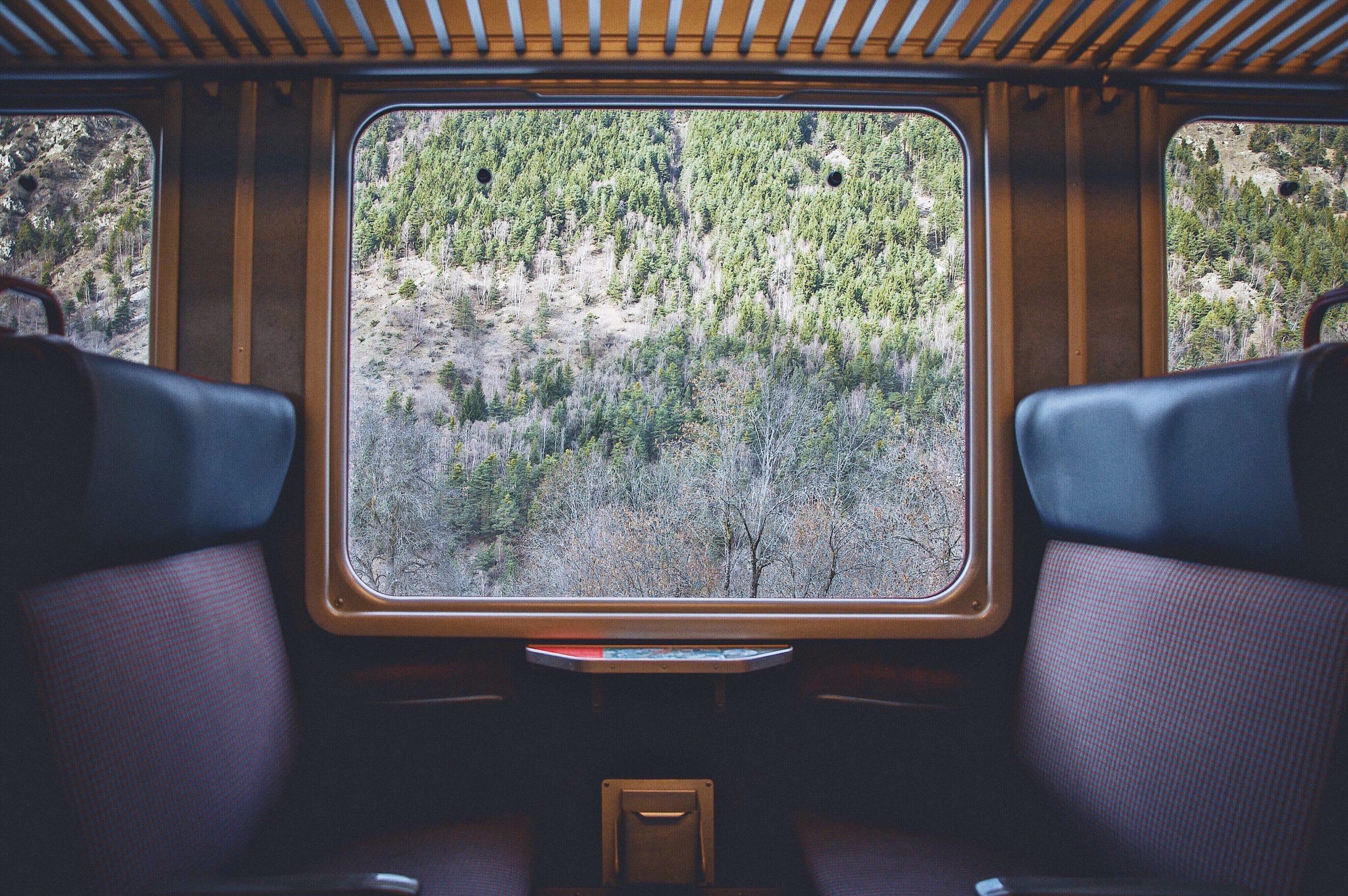 voyage en train avec vue en Europe