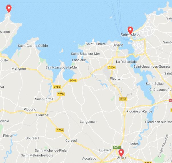 itinéraire Bretagne séjour France