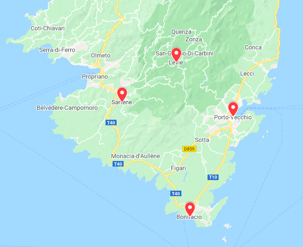 Une semaine en Corse du Sud