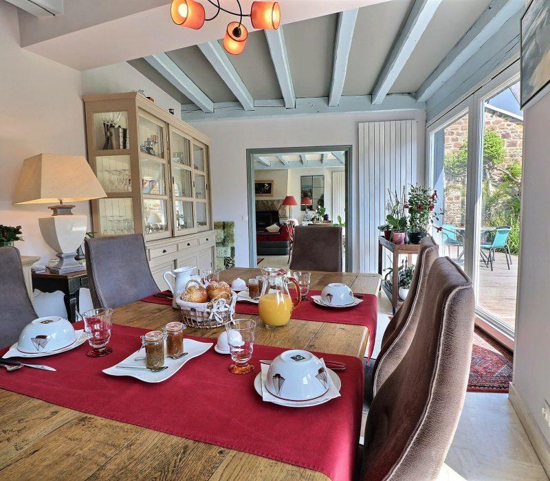 petit déjeuner chambre d'hôte saint Malo