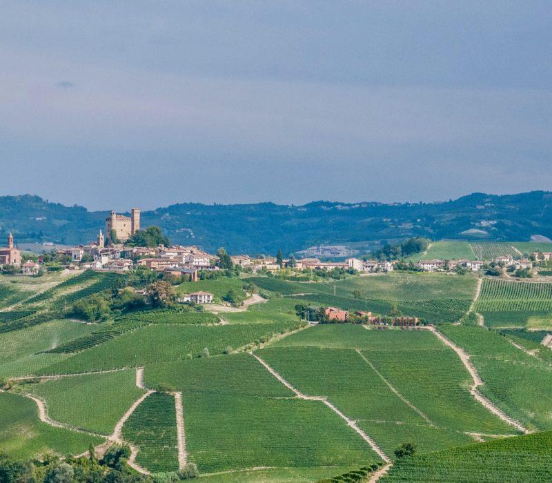 Vue sur le château de Grinzane Cavour