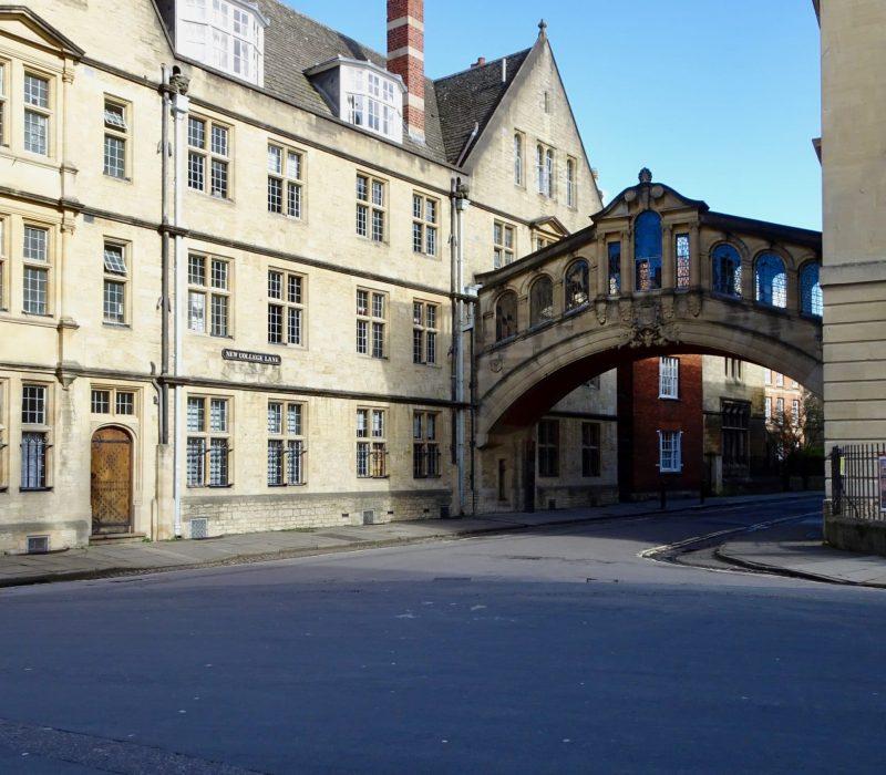 Pont de soupirs à Oxford rue